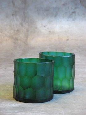 Waxinelichthouder Glas Turquoise