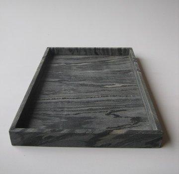 Marmeren Dienblad 40 x 60 x 5 cm 'Midnight Black'