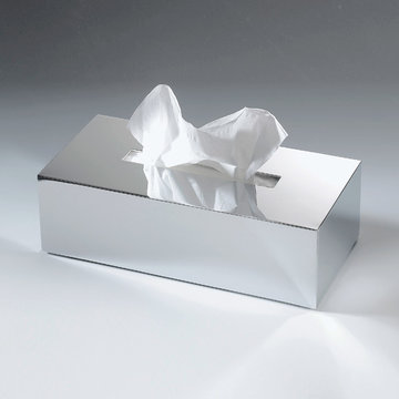 Luxe Chromen Tissue Box Decor Walther