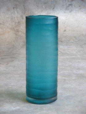 Waxinelichthouder / vaasje Glas Aqua