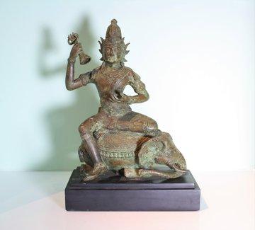 Indiase Buddha Op Olifant
