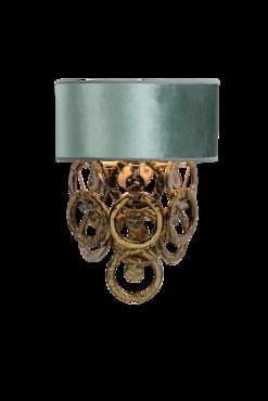 Lumière Wandlamp 2-Laags met glazen ringen goud