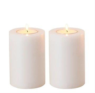 Waxinelichthouder Witte Kaars 9 cm