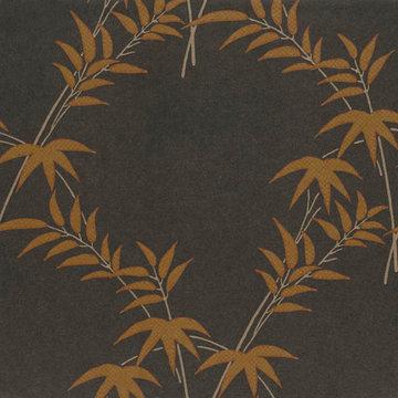 Trellis Bamboo Zwart, Goud