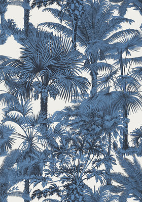 Thibaut Palm Botanical Behang Blauw