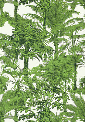 Thibaut Palm Botanical Behang Groen