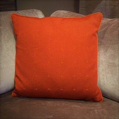 Hermès Stof Sierkussen Semis H 50x50 oranje
