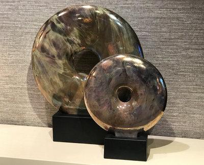 Metallic Cirkel Op Voet Groot