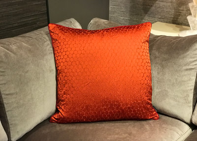 Luxury By Nature Sierkussen Zoffany Stof Oranje 60 x 60 cm