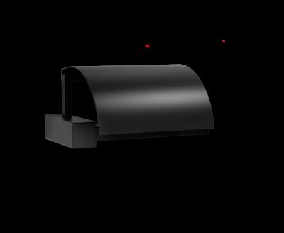 Toiletrolhouder Met Klep CO TPH 4 Zwart Mat