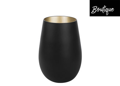 Tumblerglas Matt-Black Gold 465ml - set van 2