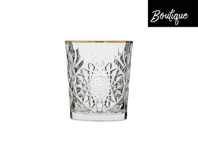 Libbey Hobstar Gold Rim Glas D.O.F. 355 ml - set van 4