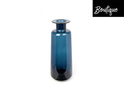 Glazen Hoge Vaas Blauw