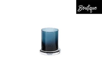 Waxinelichthouder Blauw Met Rand