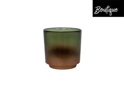Waxinelichthouder Bronze Groen