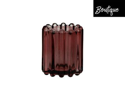 Waxinelichthouder Brooklyn Glas Bruin