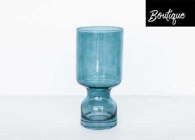Windlicht Blauw Glas