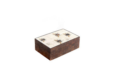 Opbergdoos Deco Hout En Hoorn Insecten