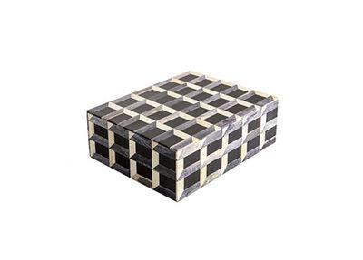 Opbergbox Geometrische Print Hout En Hoorn