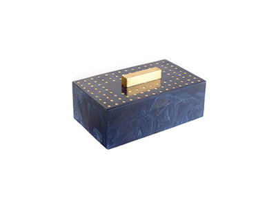 Opbergbox Marmer Navy Hout Been