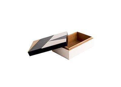 Opbergbox Abstracte Print Zwart Wit
