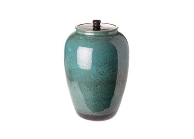 Porseleinen Pot Blauw Speckle Gold