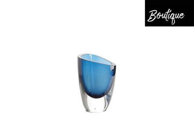 Mondgeblazen Glazen Vaas Blauw