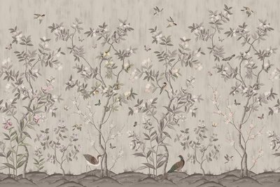 Rebel Walls Chinoiserie Chic Behang Powder Beige
