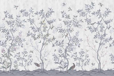 Rebel Walls Chinoiserie Chic Behang Pearl Grey