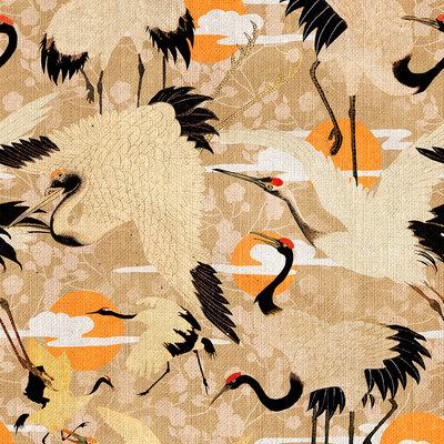 Maatwerk 420 h x 156 br Mind the Gap Birds Of Happiness Behang