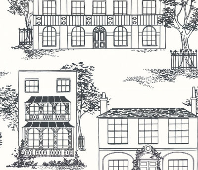 Little Greene Hampstead 'Ink' Behang