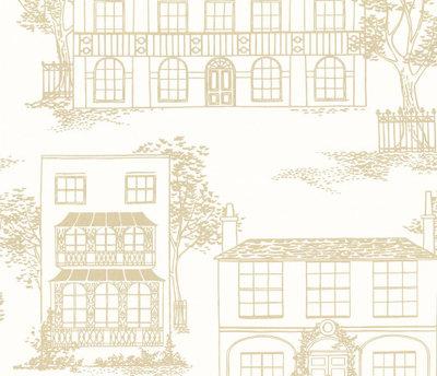Little Greene Hampstead behang - Cloister