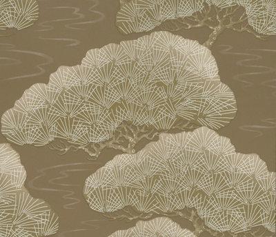 Little Greene Pines Behang - Golden Pine
