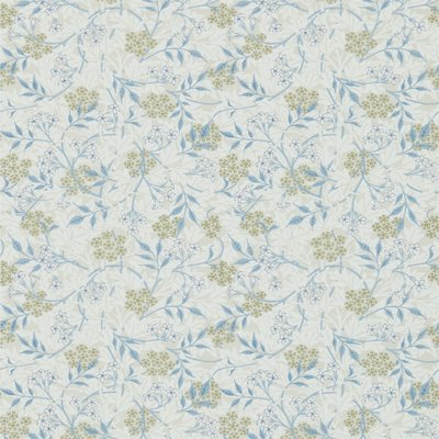 Morris & Co. Jasmine Behang - Ecru / Woad