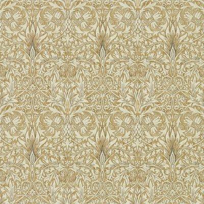 Morris & Co. Snakeshead Behang - Gold / Linen
