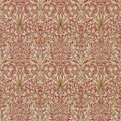 Morris & Co. Snakeshead Behang - Madder / Gold