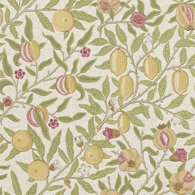 Morris & Co. Fruit W/P Behang - Limestone / Artichoke