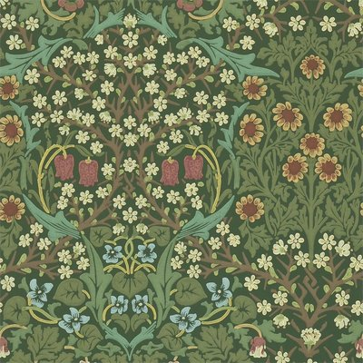 Morris Blackthorn Behang - Green