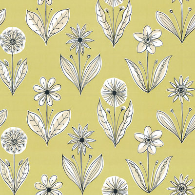 Little Greene Florette behang - Acid Drop