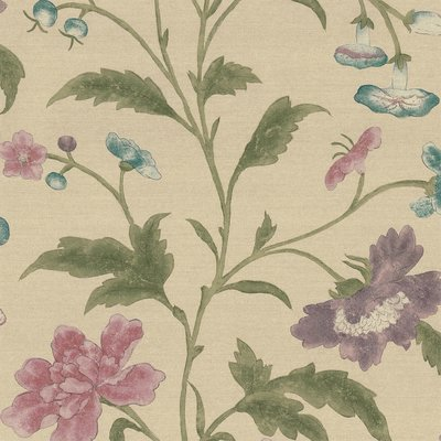 Little Greene China Rose Behang - Sage
