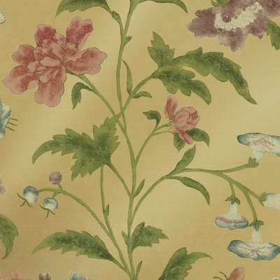 Little Greene China Rose Behang - Emerald Lustre