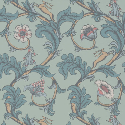 Little Greene Stag Trail Arsenic Behang