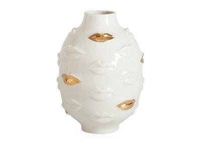 Jonathan Adler Lippen Vaas Gilded Gala Round Vase