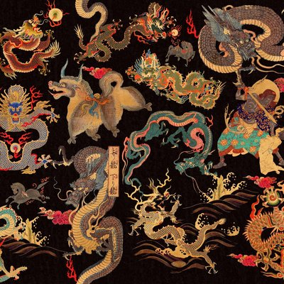 Mind the Gap Dragons of Tibet behang