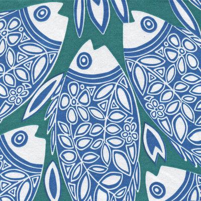 Francoise Paviot Servet Vis Blauw Groen