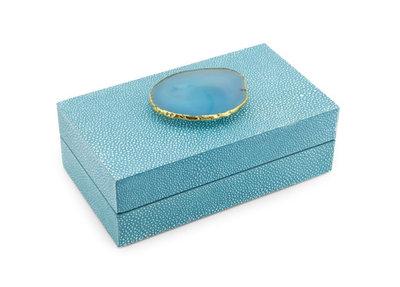 Luxe Doos Rog Agaat Turquoise