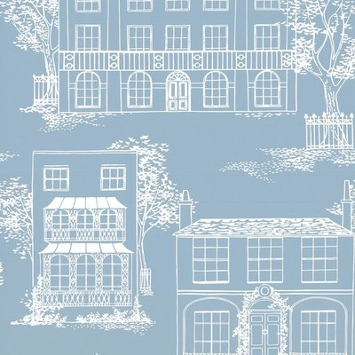 Little Greene Hampstead behang - James Blue