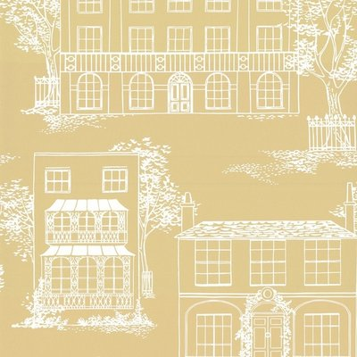 Little Greene Hampstead behang - Yellow Apple