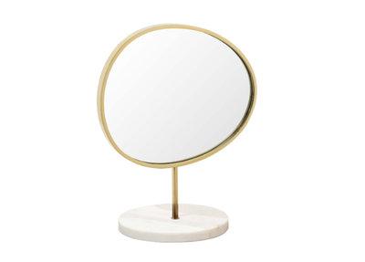 Staande Spiegel Metaal Marmer