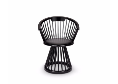 Eetkamerstoel Tom Dixon Fan Dining Chair Black